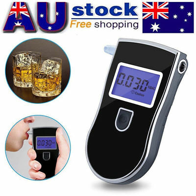 Digital LCD Breathalyser Alcohol Breath Tester Analyzer Detector + Mouthpieces