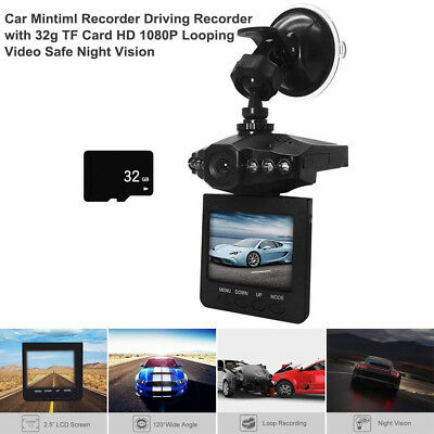Car Mintiml Recorder with 32g TF Card HD 1080P Looping Video Safe Night Vision