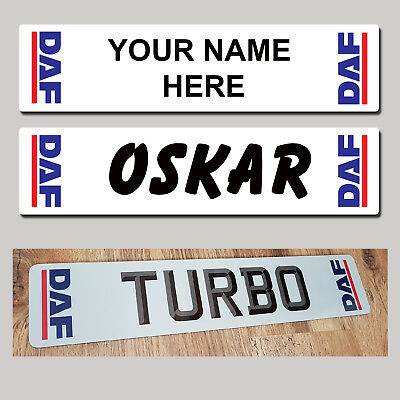 DAF Tractor Rig Truck Trucker Windscreen SHOW PLATES Name Sign  - MTP