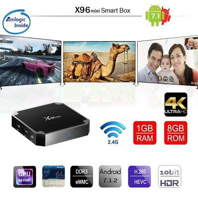 X96 Mini 4K Android 7.1 Media Player WiFi Smart TV Box KODI 18.0 1G+8G S905W US