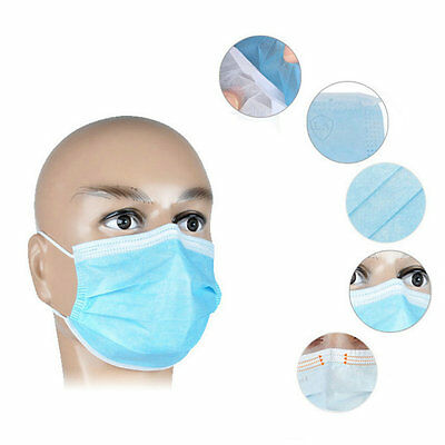 50Pcs Disposable Medical Dustproof Surgical Face Mouth Masks Ear Loop New OK