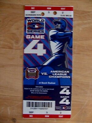 2006 World Series Full Ticket Game 5 Clincher St Louis Cardinals Tigers