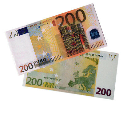 20pcs Souvenir Collectible €200 Euro Bank Note Bill Joke Uncirculated