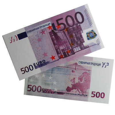20pcs Souvenir Collectible €500 Euro Bank Note Bill Joke Uncirculated