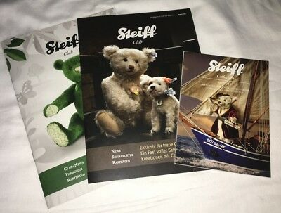 Steiff-Club Magazin August + November 2013 & Steiff Collectors 2/2014, neuwertig
