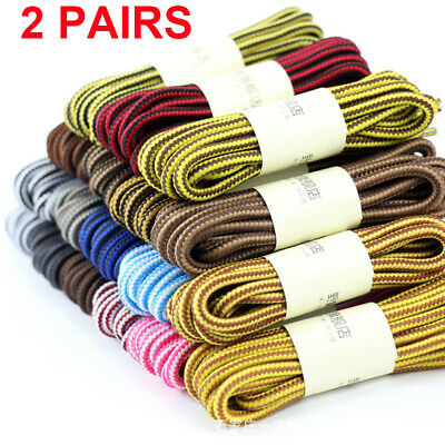 7e0bbbeb5e2 Round Shoelaces Strong Shoe Laces Shoetrings Ropes Boots Stripe Hiking  Sports