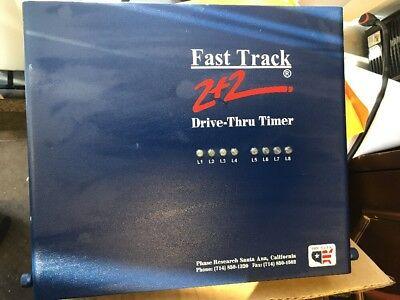 Fast Track 2+2 Drive Thru Through Timer by Phase Research POS IBM NCR Micros