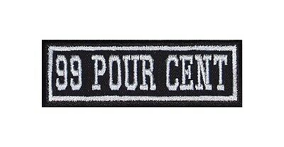 99 POUR CENT Biker Patch Aufnäher Ecusson MC Rocker Vest Moto Harley V2 Chopper