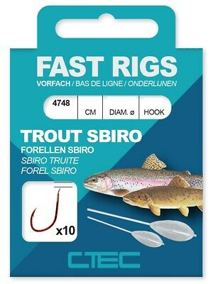 Magic Trout High-Speed-Wirbel 11-15 mm Gr 10-14 6 Stück 5-14 kg Forelle NEU