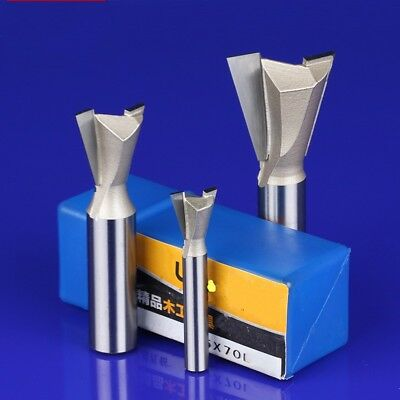 """1/4"""" 1/2"""" Shank Dovetail Forked Tail Milling Cutter CNC Router Bits For Woodwork"""