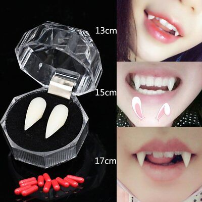 Vampire Tooth Fangs Protesi Denti finti Halloween Party Cosplay Puntelli FG 38c81cc686c9