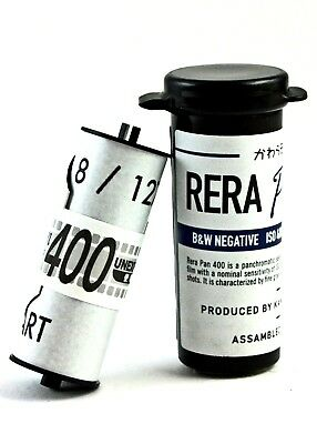 193010 NEW Rera Pan 400 ISO Black & White 127 Roll Film For Your Classic Camera