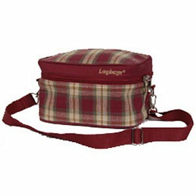 Longaberger Orchard Park Plaid LUNCH BAG with Adjustable Strap ~ New with Tags!