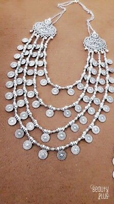 Indian Ethnic Afghani Designer Turkish Style Tribal Silver Oxidized necklace