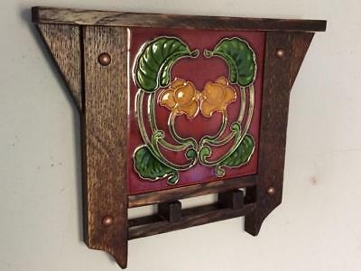 Arts & Crafts Tile w/ Handcrafted Mission Oak Frame