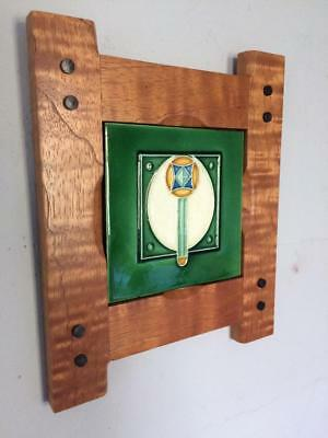 Arts & Crafts Tile w/ Handcrafted Mission  Frame