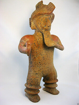 Choice COLIMA Flute Player with Dockstader Appraisal MAKE AN OFFER! Precolumbian