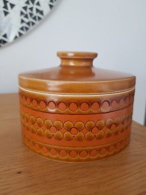 Hornsea Pottery *SAFFRON* Round Butter Dish - 1970s - *VERY RARE & SUPERB*