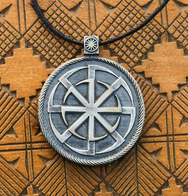 KOLOVRAT Sun Wheel Tin Pendant Slavic Pagan Slavonic Heathen Necklace Ancient