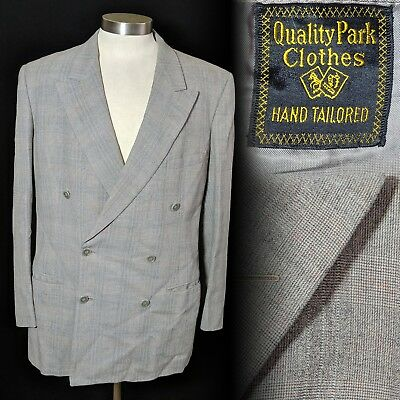 Vintage 1950s Quality Park Clothes Double Breasted Suit jacket 42 44