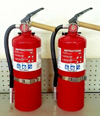 5lb Fire Extinguisher ABC Dry Chemical Rechargeable First Alert 3A40BC Two Pack