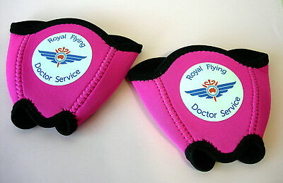 Royal Flying Doctor Service 2 Promotional Neoprene Wine Glass Coolers Pre-owned