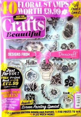 Crafts Beautiful Magazine #319 June 2018 ~ In Sealed Pack With Free Gifts ~ New