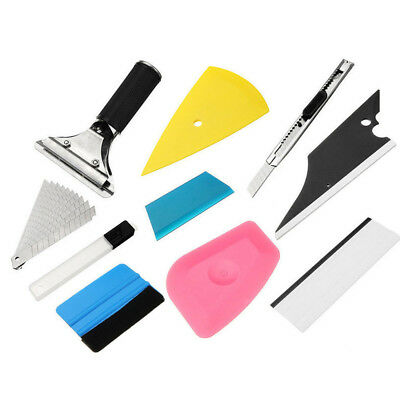 8 PCS Car Window Tint Wrapping Vinyl Tools Squeegee Scraper Applicator Kits Set