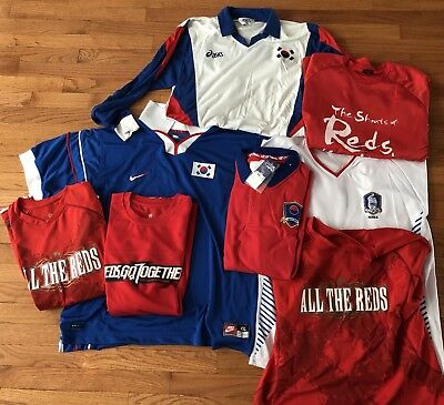 Collection of Korea World Cup Jerseys