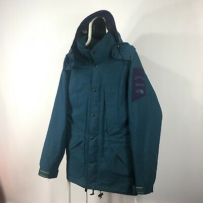 The North Face Monsoon Vintage Blue Jacket Hood Gore - Tex size L
