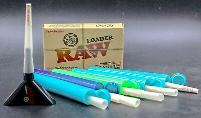 Raw 1 1/4 ORGANIC Size Cones 10 count With 5 Tubes + Raw 1 1/4 Loader