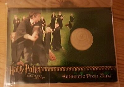 Harry Potter 450/450 practice broom prop card. SS artbox trading card