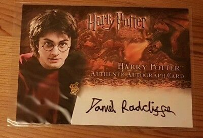 Harry Potter Daniel Radcliffe GOF auto card. artbox trading card