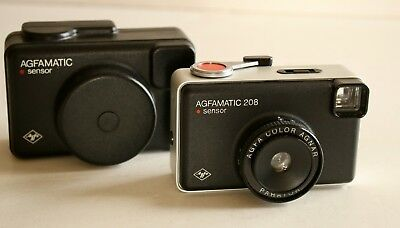 Agfa AGFAMATIC 208 Sensor126 Film Cartridge Camera Vintage