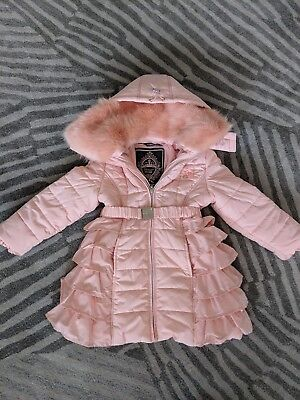 e307f588e1df LE CHIC DESIGNER Girls Ruffle Padded Coat. Age - 3 4 Years. Rrp ...