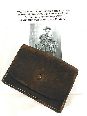 Australian Leather Ammo Pouch Dated 1910 #a45