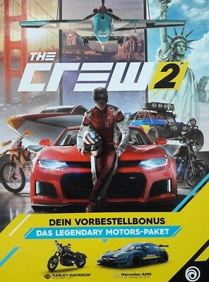 The Crew 2 - Legendary Motors Paket DLC PS4 Xbox one oder PC