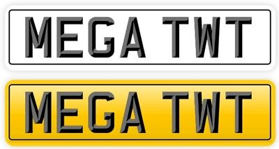 PRIVATE PLATE TWAT  ✔️ Mega Twat!  Funny rude cherished Number Plate Private