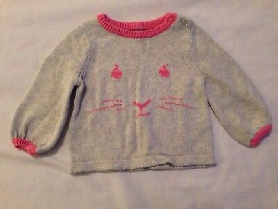 cdcbbda80 Beatrix Potter for Baby Gap Girls Pink Bunny Knit Sweater 3-6 Months