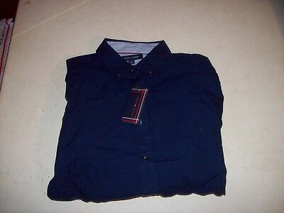 67bb3eada Tommy Hilfiger Men's Medium Blue Graphic Long Sleeve Button Front Shirt NEW  NWT
