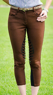 Ladies silicone grip breeches, brown - Size 8