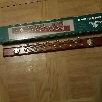 Monte Carlo Golf Tie And Belt Rack Size 20 Long 18 Gold Pegs