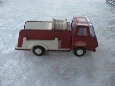 """Vintage Tonka Fire Pumper Red 6"""" Truck 1970s Toy Steel and Plastic ORIGINAL Rare"""