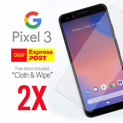 2X Genuine Tempered Glass Screen Film Protector for Google Pixel 3 & 3XL