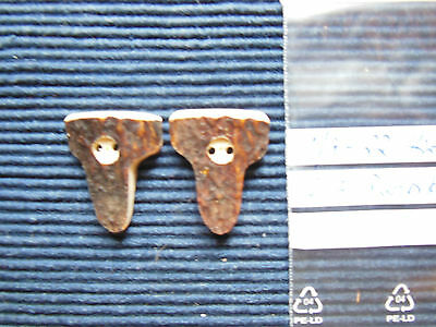 2x Lapel Buttons/Decorative Knobs Real Deer Horn Traditional Costume Buttons#