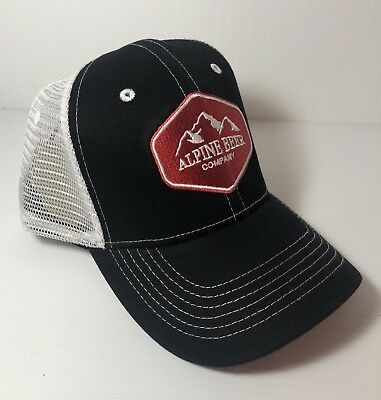 Alpine Beer Company Trucker Mesh Hat Vintage Style Snapback Cap  Red Black White 320c9e5c1a3c