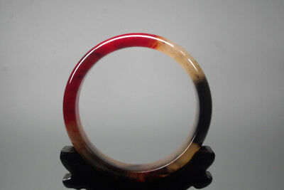 Vintage Chinees Exquisite old natural red Blood jade Antique jade bangle XB-500