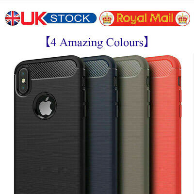 For iPhone Phones case Shockproof Carbon Fiber Brush Ultra Slim Cover Case UK