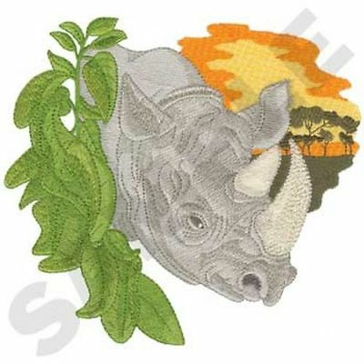 "Rhino, Rhinoceros Embroidered Patch 7"" x 6.4"""