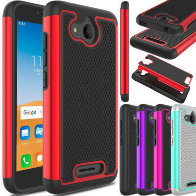 For Alcatel Tetra 5041C Phone Case Hybrid Shockproof TPU Rugged Hard Armor Cover